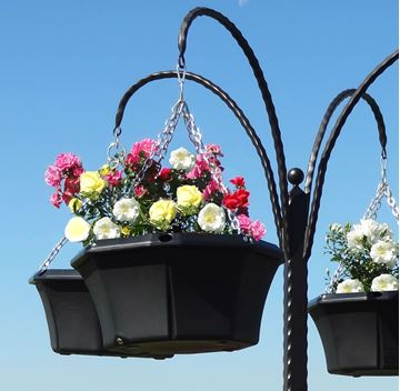 """Picture of 20"""" Pagoda Hanging Basket"""
